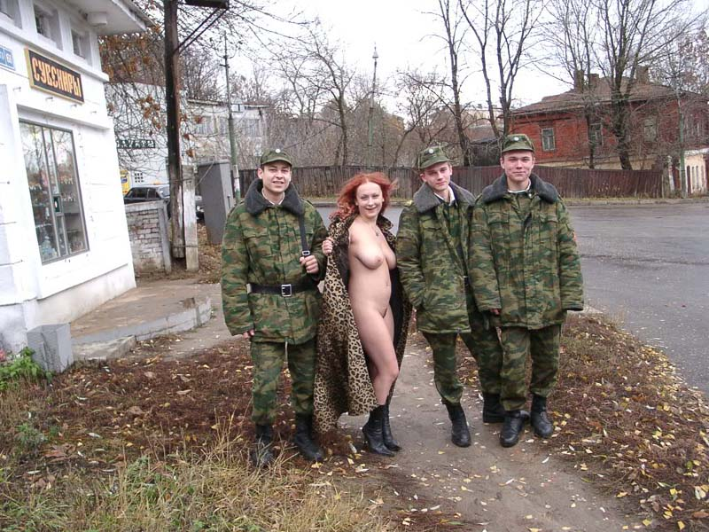 Female soldier naked Army Tubes